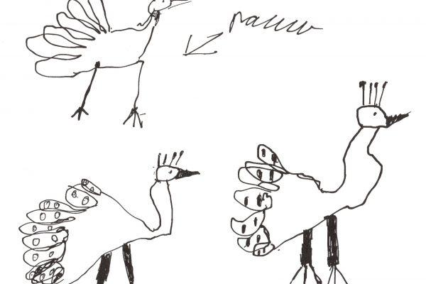 """Digitale tekening op papier, 21 x 30 cm.  """"Ik ga de 500 Euro gebruiken voor een uitje met mijnklas b.v naar het museum van Oudheden in Leiden"""""""